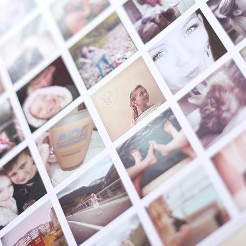фотонаклейки - печать фотографий из инстаграм компьютера и телефона на наклейках!