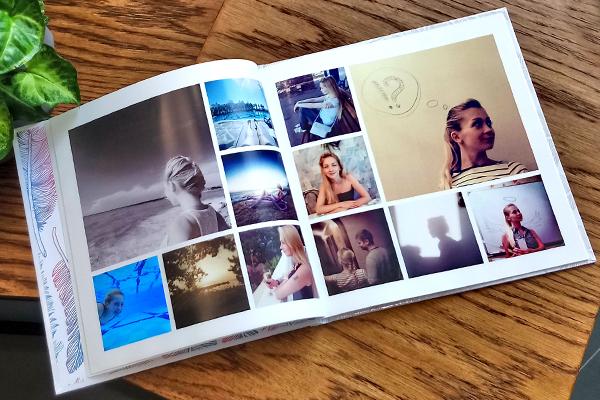 Instabook Инстабук - фотокнига в стиле Инста, печать фото с телефона, печать фото из Инстаграм, печать книг фотокниг Инста Книг