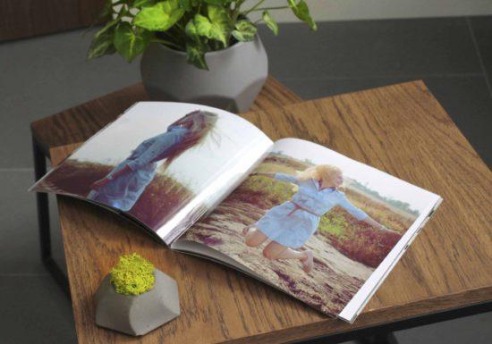 Фотобук журнал - фотожурнал. Фотокнига в мягкой обложке.