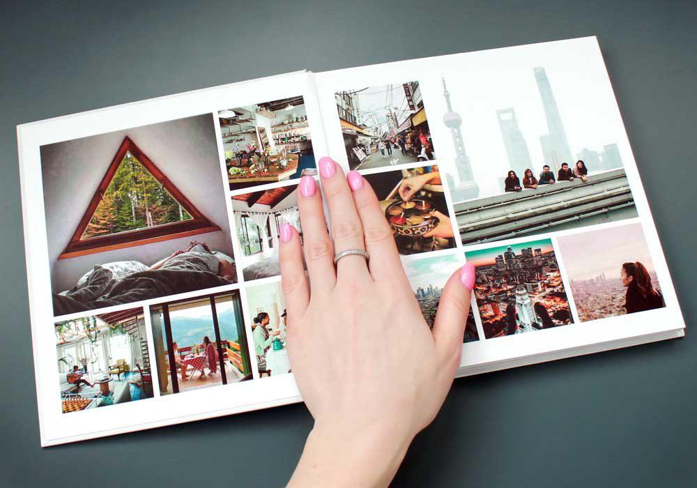 инстабук - фотокнига с квадратными фото, печать фото в инстабук, изготовление инстабук Украина